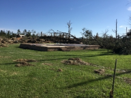 Image showing EF4 damage from a tornado